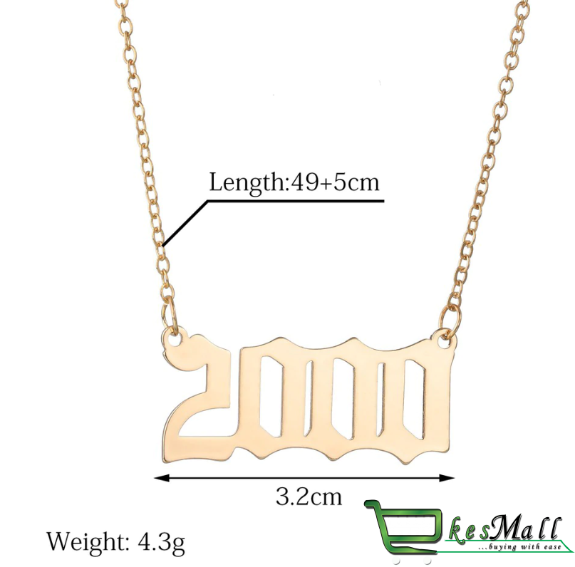 Women's Year Number Designed Necklace