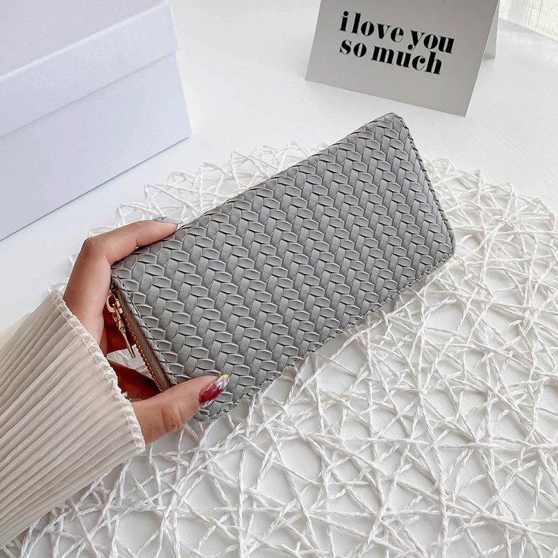 Women's Weaved Handle Wallet